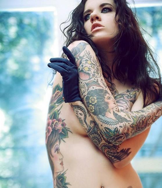 姑娘们的美丽纹身【6】图片