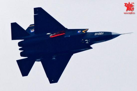 中国歼31隐形战斗机最新试飞照片曝光