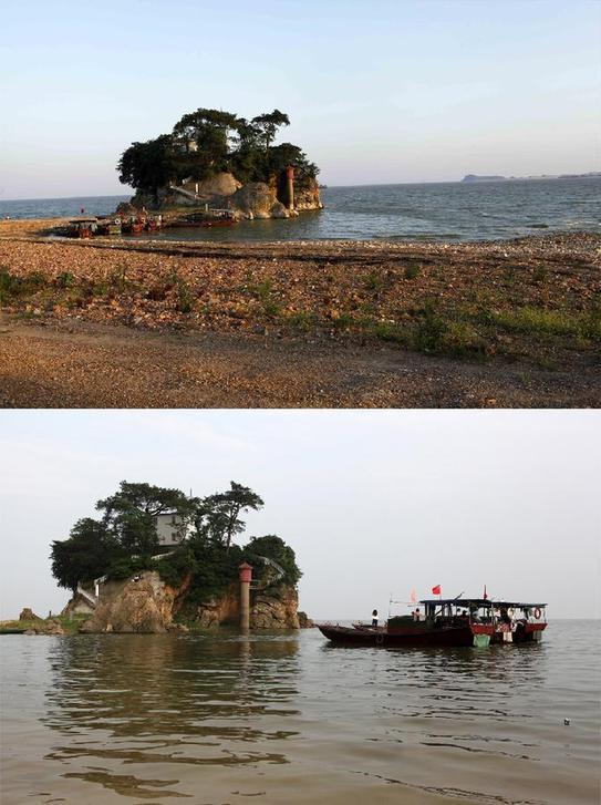 """持续干旱少雨导致我国最大淡水湖""""瘦身""""【3】"""
