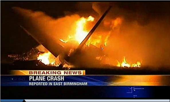 美国一货运飞机失事坠毁