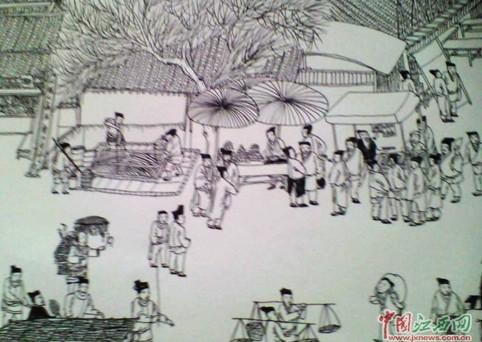 江西聋哑男孩2小时绘制清明上河图 求拜师学艺