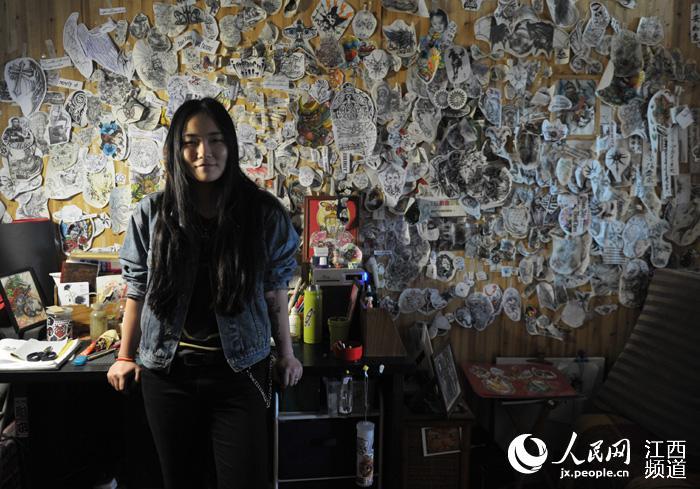 南昌:追梦女纹身师--江西频道--人民网