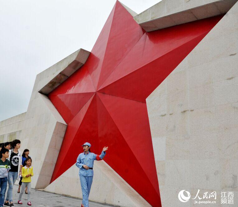国内最大红色五角星亮相江西广昌(图)