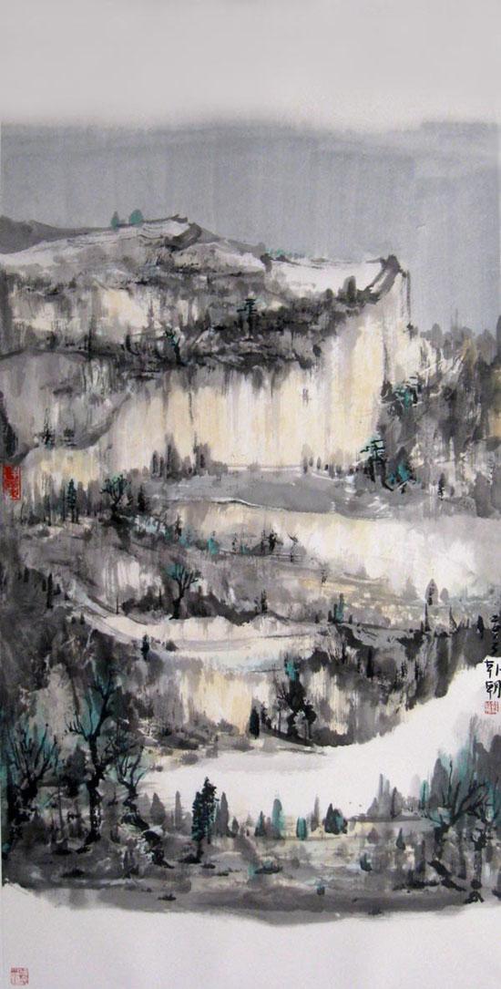 韩朝中国山水画作品欣赏