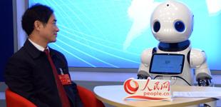 """专题:机器人对话""""两会""""代表委员        今年""""两会""""期间,为了创新报道方式,本频道推出""""机器人跑两会""""视频访谈节目"""
