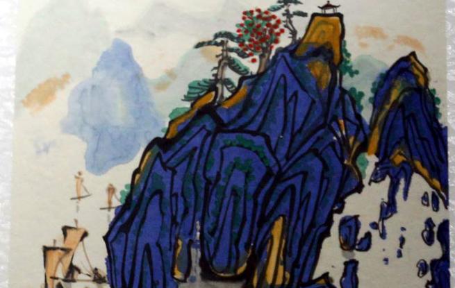江西南丰乡贤罗曼克先生画展在抚州举办
