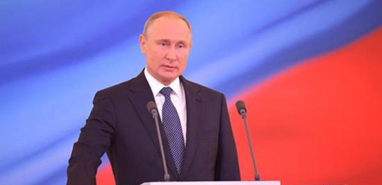 普京就任俄罗斯总统         2018年5月7日莫斯科时间11时45分,俄罗斯新一届总统就职仪式在莫斯科大克里姆林宫盛大举行……