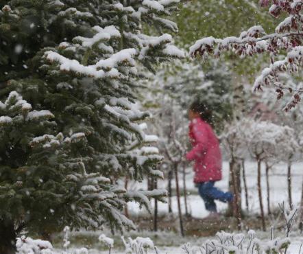 新疆遭遇寒潮天气