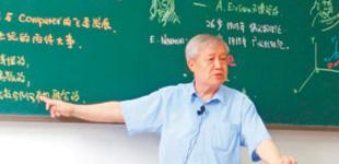 74岁老教授梁昌洪手绘教材漫画教学