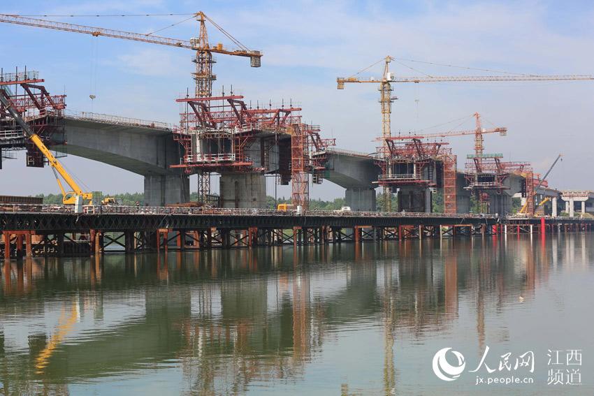 广吉高速泰和北赣江特大桥即将合龙(图)【3】