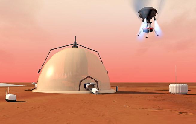 瑞士科学家设计出未来火星自我维持研究基地
