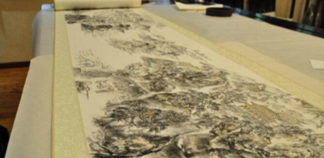 冯一束画作《含章渡海东》