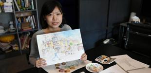 长春高校教师手绘家乡漫画
