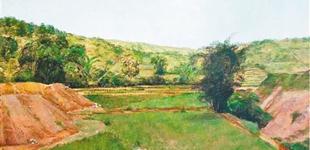 雷波油画:那马的风景