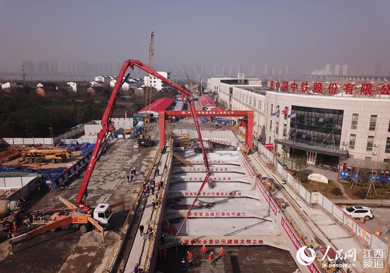 南昌地铁4号线首座车站主体结构顺利封顶(图)