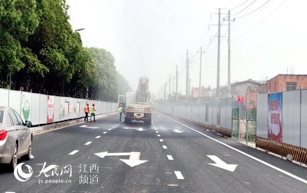 通车时间近了 南昌昌东大道拓宽改造提升工程东半幅将通车