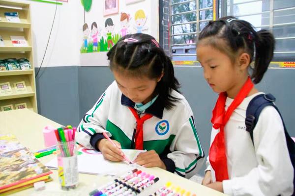 """上海期货开户需要多少钱共青城市:""""心连心""""课堂让农村孩子快乐成长"""